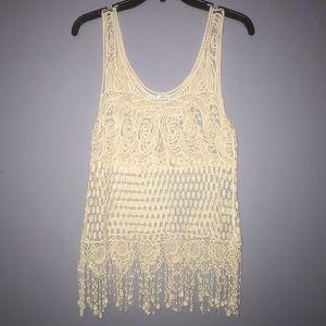 Maurice's Lace Pattern Vest Top